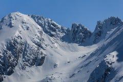 De Fagaras bergen i vinter Arkivbild