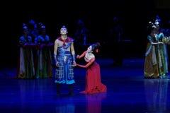 De familie affectie-vier handeling ` belemmerde inklaring ` - Epische de Zijdeprinses ` van het dansdrama ` stock afbeeldingen