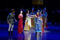 De familie affectie-vier handeling ` belemmerde inklaring ` - Epische de Zijdeprinses ` van het dansdrama ` royalty-vrije stock afbeeldingen