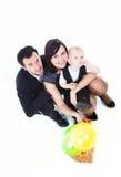 De familie met stelt voor stock afbeelding