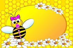 De Familie van bijen: Het meisje van de baby - de Illustratie van Jonge geitjes Stock Fotografie