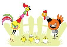 De familie van Chiken Stock Illustratie