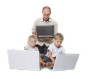 De familie van de computer Stock Afbeeldingen