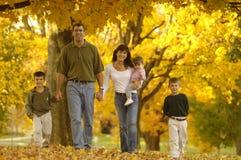 De familie van de herfst Royalty-vrije Stock Fotografie