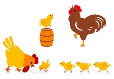 De Familie van de kip Stock Illustratie