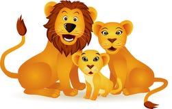 De familie van de leeuw Stock Afbeeldingen