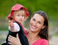 De familie van de moeder en van de dochter Stock Fotografie