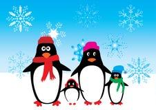 De familie van de pinguïn Stock Afbeelding