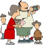 De familie van de toerist vector illustratie