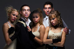 De familie van de vampier Royalty-vrije Stock Fotografie