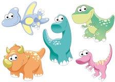 De Familie van dinosaurussen Stock Afbeeldingen