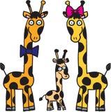 De familie van giraffen Stock Afbeeldingen