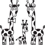 De familie van giraffen Stock Afbeelding