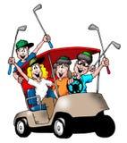 De Familie van Golfing Royalty-vrije Stock Foto