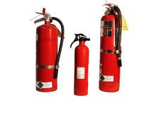 De familie van het brandblusapparaat royalty-vrije stock afbeeldingen