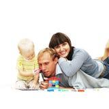 De familie van het geluk Stock Afbeeldingen