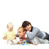 De familie van het geluk Royalty-vrije Stock Afbeeldingen