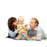 De familie van het geluk Stock Afbeelding