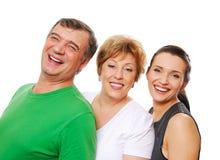 De Familie van het geluk Royalty-vrije Stock Foto