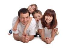 De familie van het geluk Royalty-vrije Stock Afbeelding