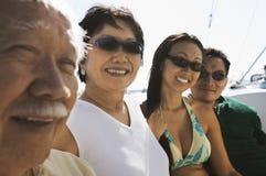 De familie van het roeien Royalty-vrije Stock Foto's
