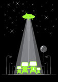 De familie van het UFO Stock Afbeelding