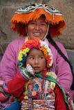 De familie van Incas Stock Foto