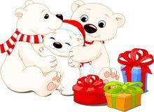 De familie van Kerstmis royalty-vrije illustratie