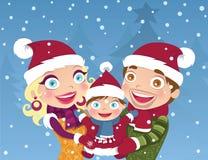 De familie van Kerstmis stock illustratie