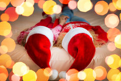 De Familie van Kerstmiskerstmis Vakantie de Winter Royalty-vrije Stock Foto