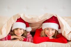De Familie van Kerstmiskerstmis Vakantie de Winter Stock Afbeeldingen