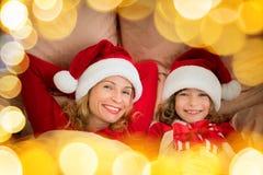 De Familie van Kerstmiskerstmis Vakantie de Winter Royalty-vrije Stock Foto's