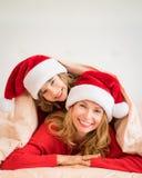 De Familie van Kerstmiskerstmis Vakantie de Winter Stock Afbeelding