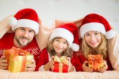 De Familie van Kerstmiskerstmis Vakantie de Winter Royalty-vrije Stock Afbeeldingen