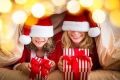 De Familie van Kerstmiskerstmis Vakantie de Winter Stock Foto