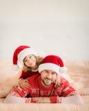 De Familie van Kerstmiskerstmis Vakantie de Winter Stock Fotografie