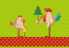De familie van kippen Stock Foto's