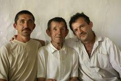 De familie van landbouwers stock foto
