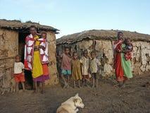 De familie van Maasai Royalty-vrije Stock Afbeeldingen