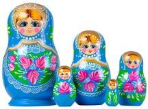 De familie van Matrioska Royalty-vrije Stock Afbeeldingen