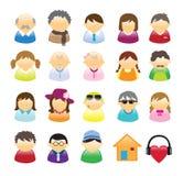 De Familie van pictogrammen Stock Afbeeldingen
