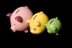 De Familie van Piggybank Stock Foto