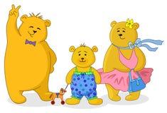 De familie van teddyberen Royalty-vrije Stock Afbeelding