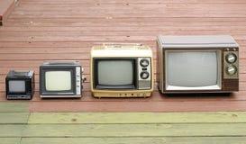 De Familie van TV Stock Fotografie