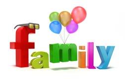 De familie van Word met kleurrijke brieven. Royalty-vrije Stock Afbeelding