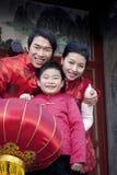 De familie viert Chinees Nieuwjaar Stock Foto