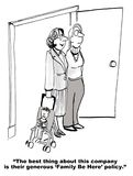 De Familiebeleid van het bedrijf Royalty-vrije Stock Fotografie