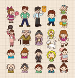 De familiekaart van het beeldverhaal Stock Foto's