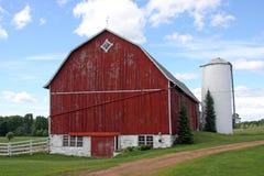 De familielandbouwbedrijf van Wisconsin royalty-vrije stock foto
