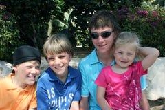 De familiemening van jonge geitjes Royalty-vrije Stock Foto